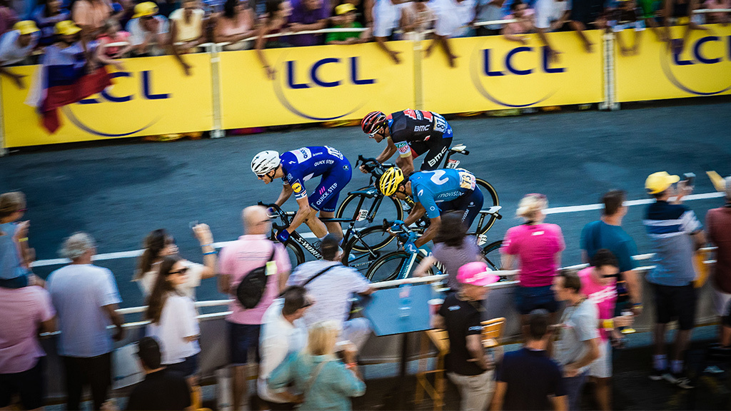 Zielsprint bei der Tour de France 2018